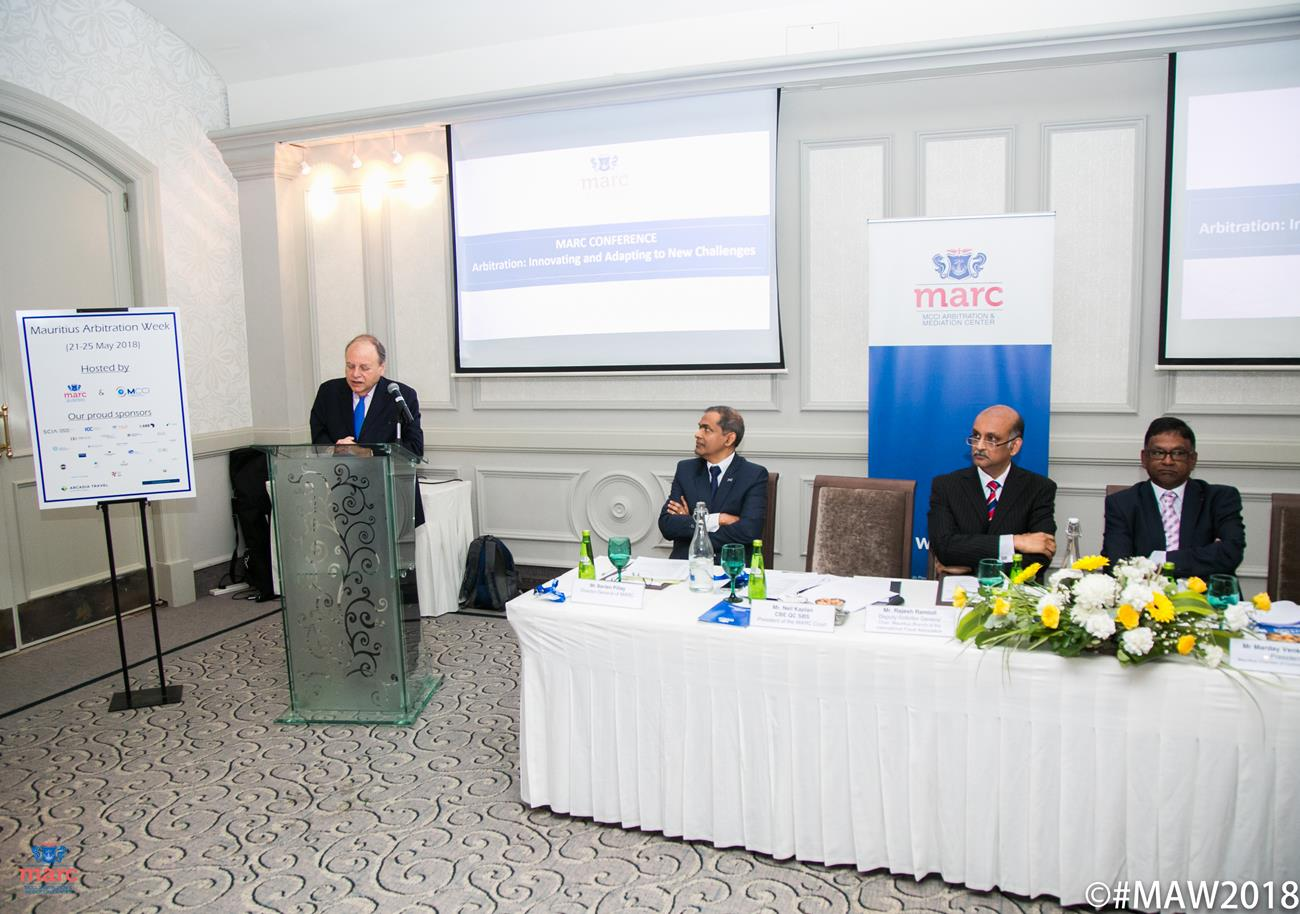 Successful 1st edition of the Mauritius Arbitration Week 2018 hosted by MARC